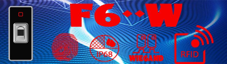 Kapacitní biometrická autonomní čtečka F6-W , WG26, IP68, 125kHz
