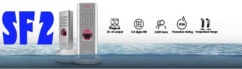 SF2 vodotěsná, biometrická čtečka