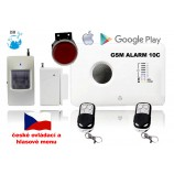 GSM alarm set - zvuk a ovládanie v ČEŠTINE/ ALABASTR II - 10C