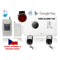 GSM alarm set v zvuk a ovladani v ČEŠTINĚ / ALABASTR II - 10C