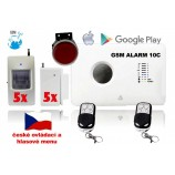 GSM inteligentní alarm ALABASTR II - set 10 čidel, 10C, CZ MENU A ZVUK