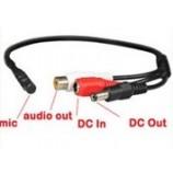 Mikrofon pro bezpečnostní  NVR/DVR s předzosilnovačem CCTV/AHD/CVI kamery