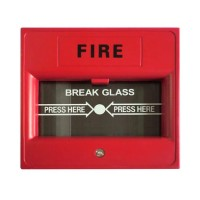 Červené vonkajšie tlačidlo - krabička pre požiarny poplach ALF-EB03