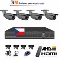 4CH 1080p AHD kamerový set- STARVIS CCTV - DVR s LAN a 4x AHD IR kamer,4x ZOOM, vč. příslušenství, 1920x1080px/CH, CZ menu,P2P, HDMI, 2MPx