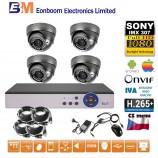 8CH 1080p AHD DVR kamerový set STARLIGHT - DVR s LAN a 4x venkovních AHD IR kamer, 4xZOOM, 1920x1080px/CH, CZ menu, P2P, HDMI, IVA, H265+