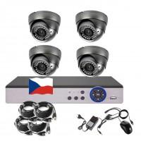 4CH 1080p AHD kamerový set STARLIGHT CCTV - DVR a 4x vonkajšie dome, 4x mot. ZOOM 2,8-12mm, CZ menu, P2P, HDMI, IVA, H265+