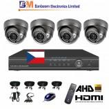 8CH 1080p AHD DVR kamerový set STARVIS CCTV - DVR s LAN a 4x vonkajších AHD IR kamier, 4xZOOM, vrátane príslušenstva, s kabelážou, 1920x1080px/CH, CZ menu,P2P, HDMI