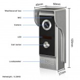 Kovový odolný videozvonek vonkajší XSL-M4