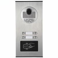 Kovový odolný videozvonek vonkajší pre 4 účastníkov s RFID čítačkou, 4ks tlačidiel XSL-530-4 ID