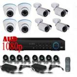 8CH 1080p AHD kamerový set - DVR s LAN a 4+4x dome + bullet AHD IR kamer, 1920x1080pxpx/CH, CZ menu,P2P, HDMI