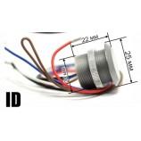 ID-WG-26, RFID mini čítačka, zápustné - závrtná, EM - 125 kHz