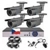 4CH 5MPx STARVIS AHD kamerový set CCTV - DVR s LAN a 4x vonk. 2,8-12mm bullet, 2688×1960px/CH, CZ, P2P, HDMI, IVA, H265+
