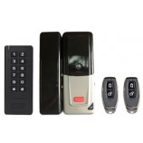 WiFi smart set D2 (zámok, diaľkové ovládanie, klávesnica s RFID 125kHz ), pre sklenené dvere, batériové napájanie, kovové vyhotovenie