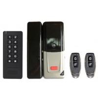 WiFi smart set D2 (zámek, dálkové ovládání, klávesnica s RFID 125kHz ), pro skleněné dveře, bateriové napájení, kovové provedení s plastovým krytem