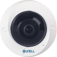 5MPx SUNELL SN-IPV57/50AGDR -  Fisheye kamera, rybie oko, AUDIO, H265, SD, POE, IVA