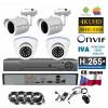 4CH 8MPx AHD kamerový set - 4K CCTV - DVR s LAN a 4x dome+bullet, 3840x2160px/CH, CZ menu, P2P, HDMI, IVA, H265+