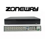 32CH IP (16 AHD) 8MPx hybridný rekordér 4K XVR, ONVIF, RS485, H265, HDMI, P2P, CZ menu, AUDIO (ZONEWAY XVR3116DB)