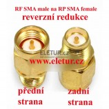RF SMA male to RP SMA female redukcia