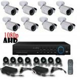 8CH 1080p AHD kamerový set - DVR s LAN a 8x bullet AHD IR kamer, 1920x1080px/CH, CZ menu,P2P, HDMI, 2,0MPx
