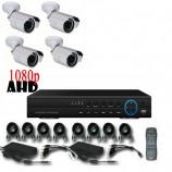 8CH 1080p AHD kamerový set - DVR s LAN a 4x bullet AHD IR kamier, 1920x1080px/CH, CZ menu,P2P, HDMI, 2,0MPx