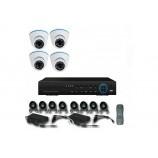8CH 1080p AHD kamerový set - DVR s LAN a 4x dome AHD IR kamier, 1920x1080px/CH, CZ menu,P2P, HDMI, 2MPx