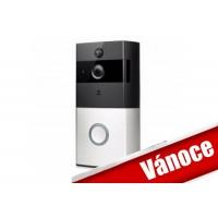 WIFI Batériový videotelefón, videozvonek bezdrôtový HD Doorbell 720p, s monitorovaním z mobilu  FT-P100SM01 + SD 8GB