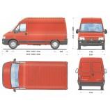Peugeot Boxer 2,8 HDI, 94kW - nákladní dodávka verze LONG, k zapůjčení