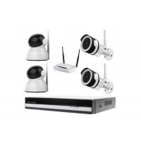 Kamerový WiFi IP set, Zoneway 2x NC850 + 2x NC824 2MPx + NVR2404 + WiFi router